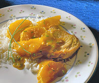 Curried Pork Chops with Oranges