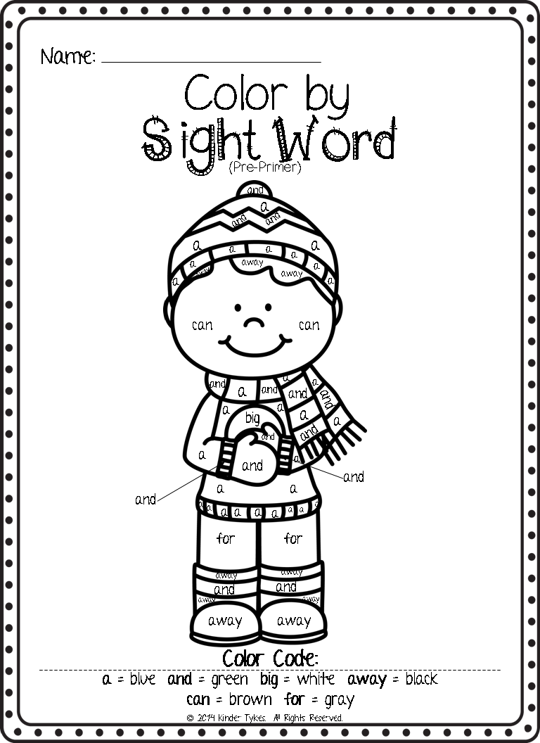 Worksheets Color By Sight Word Worksheets kinder tykes 2015 they absolutely love color by sight word worksheets and have been asking me if i had anymore since we finished the christmas ones