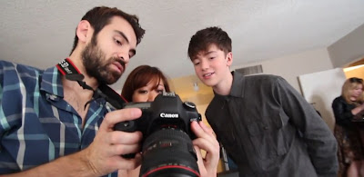 Greyson Chance Photo Shoot Leather Shirtless Video
