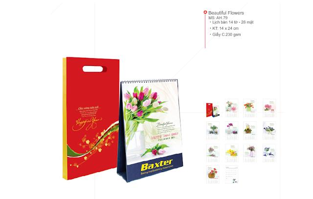 Lịch bàn - Hoa đẹp - Beautiful Flowers