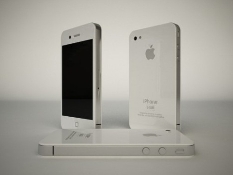 White iPhone 4.