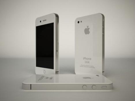 White iPhone 4.
