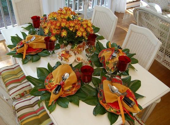 Inspirações do Ser Mesas de Outono  -> Decoração Festa Folhas De Outono