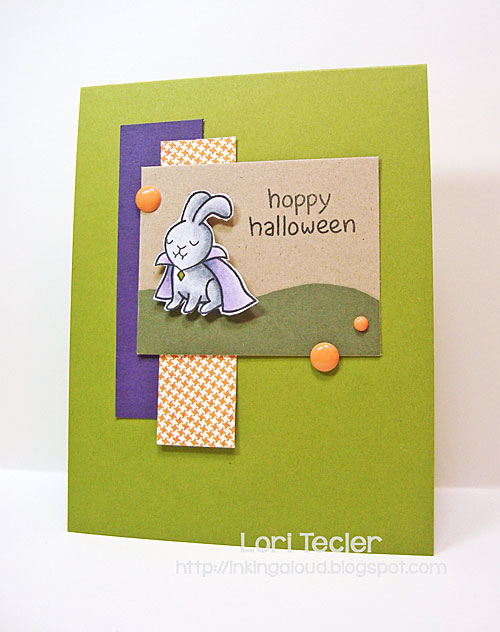 Hoppy Halloween card-designed by Lori Tecler/Inking Aloud-stamps from Lawn Fawn
