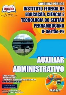 Apostila AUXILIAR ADMINISTRATIVO - Concurso IFPE 2014