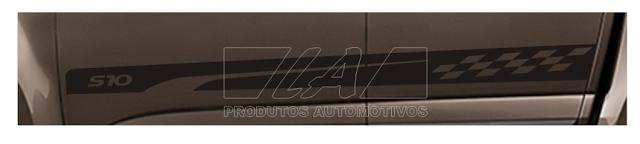Kit adesivo Nova S10 cabine dupla lançamento 2015 2016 não é friso