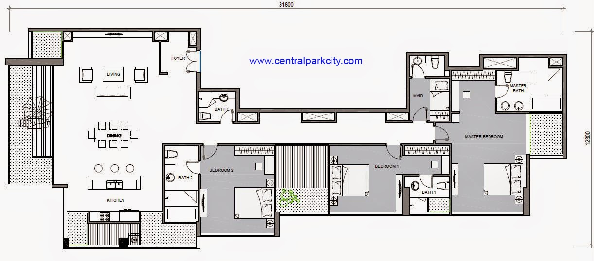 Vinhomes Central Park Penthouse - Căn Penthouse Vinhomes số 05 tầng 37 - 3PN - 276.5m2