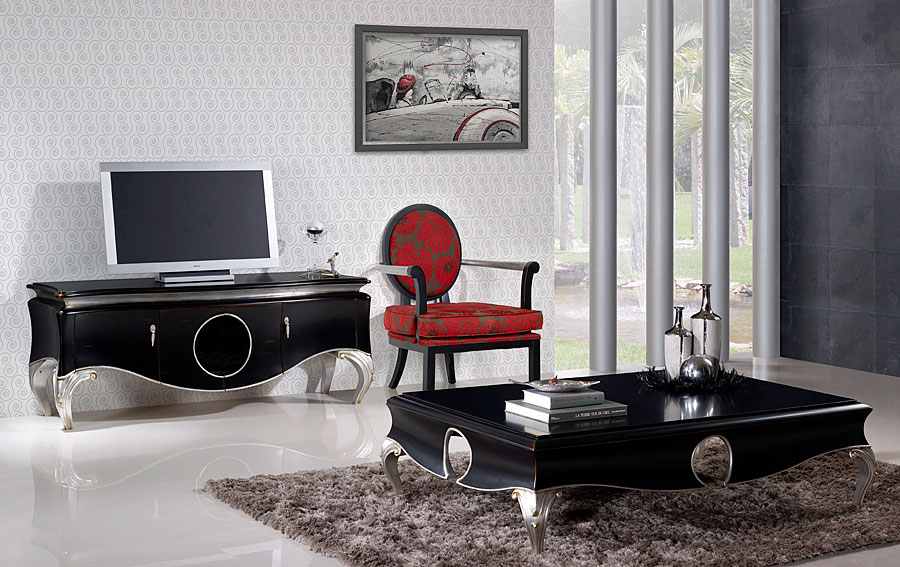 Dedecora salones estilo vintage for Muebles estilo clasico moderno