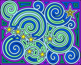 Alaska flag inspired coloring page- Ursa Major and the North Star
