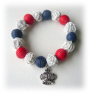 Jubilee Red White Blue Elasticated Bracelet