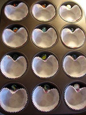forminha - cupcake de coração