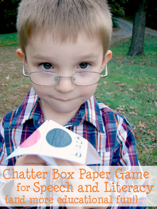 paper game for speech and literacy development