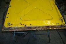Van rear door repair.