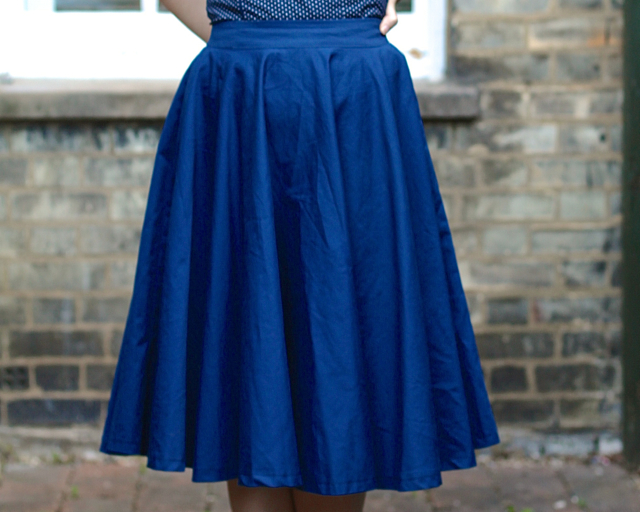 Pinup Girl Clothing canvas underskirt review - before