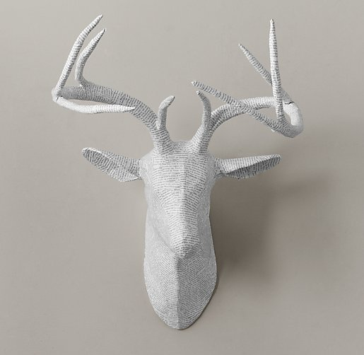 RESTORATION HARDWARE BABY & CHILD PAPIER-MÂCHÉ STAG HEAD