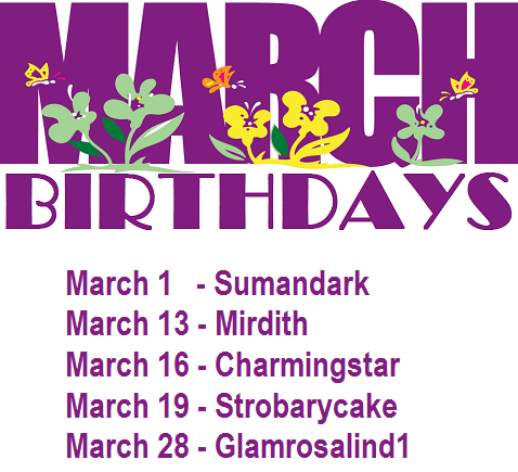 March Birthday List