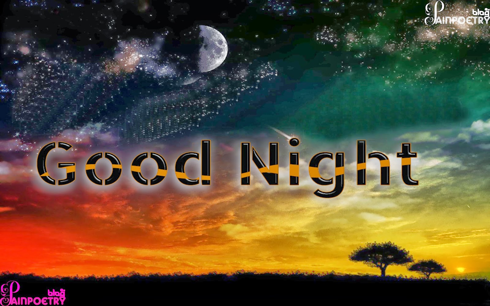 Good-Night-Walpaper-With-Black-Clouds-And-Moon-HD-Wide