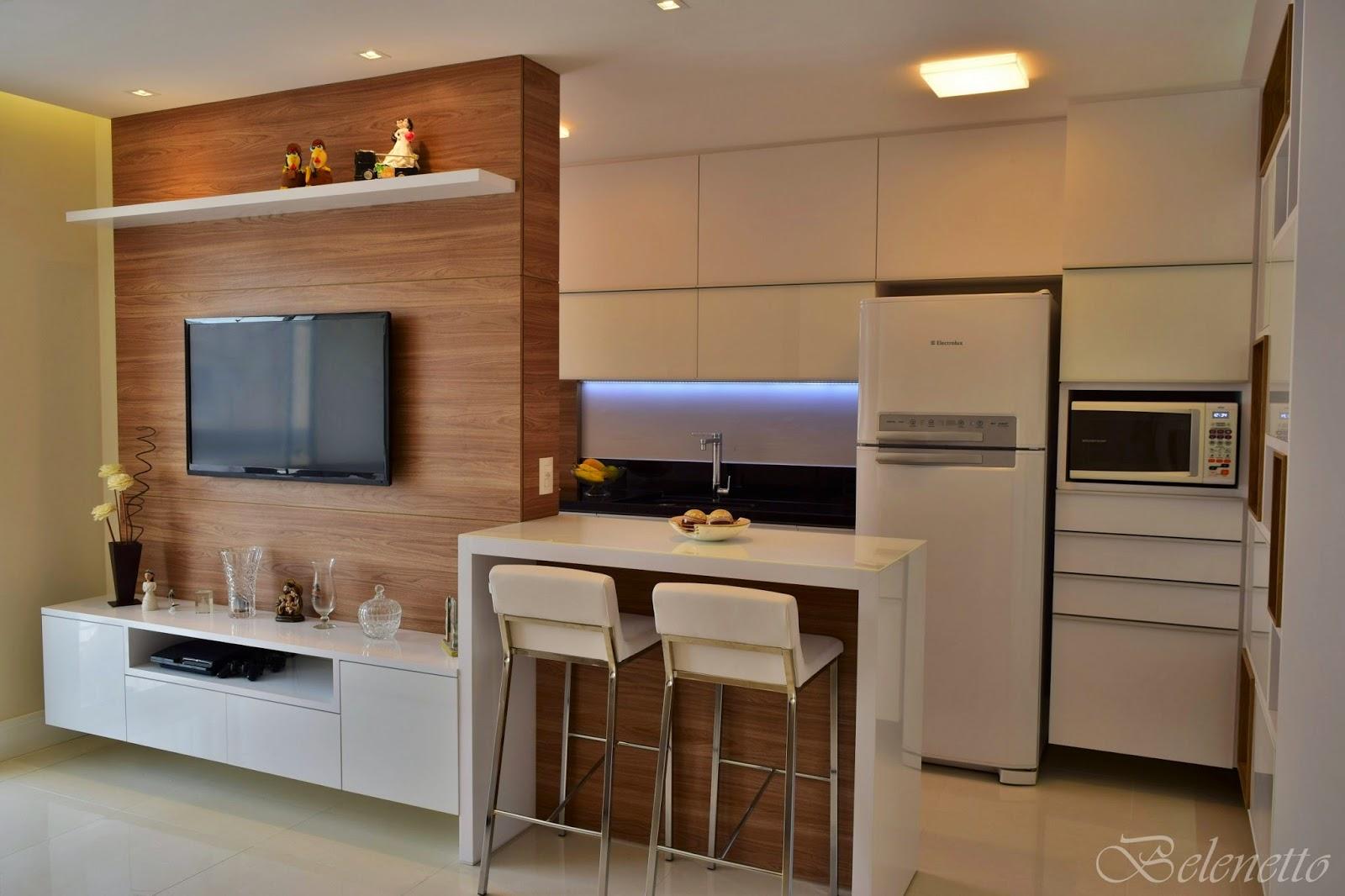 Belenetto Marcenaria Personalizada: Cozinha e Sala integrada  #956C36 1600 1066