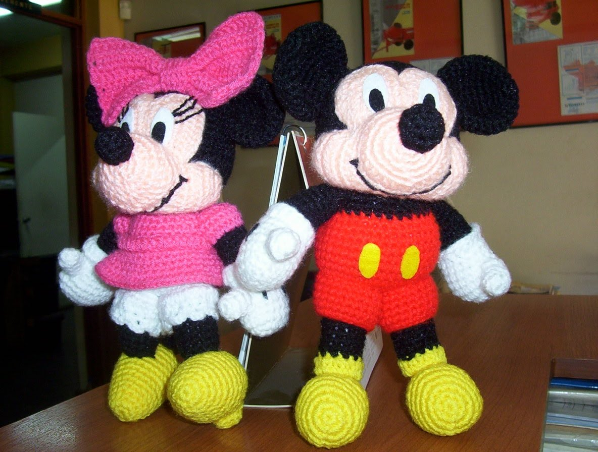 Contemporáneo Patrón Libre De Crochet Mickey Mouse Friso - Manta de ...