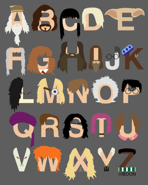Mike BaBoon Design Harry Potter Alphabet