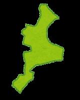 三重県の地図のイラスト(都道府県)