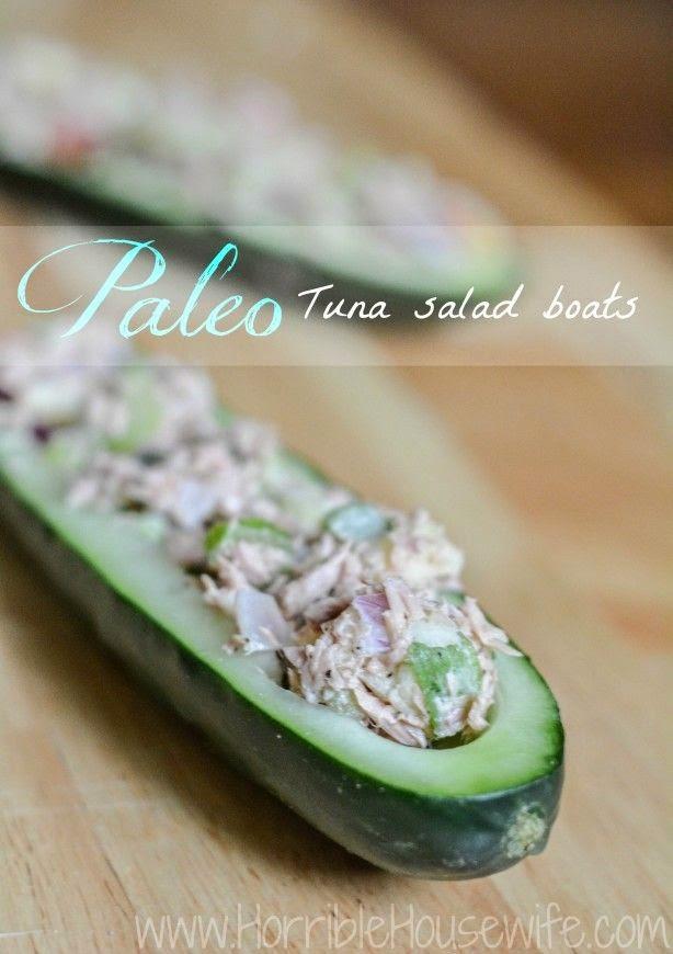Paleo Tuna Salad Boats