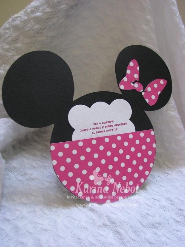 Karina Nebot: Invitación y dulcero de Minnie Mouse