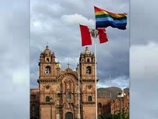 Banderas del Tahuantinsuyo y del Peru actual