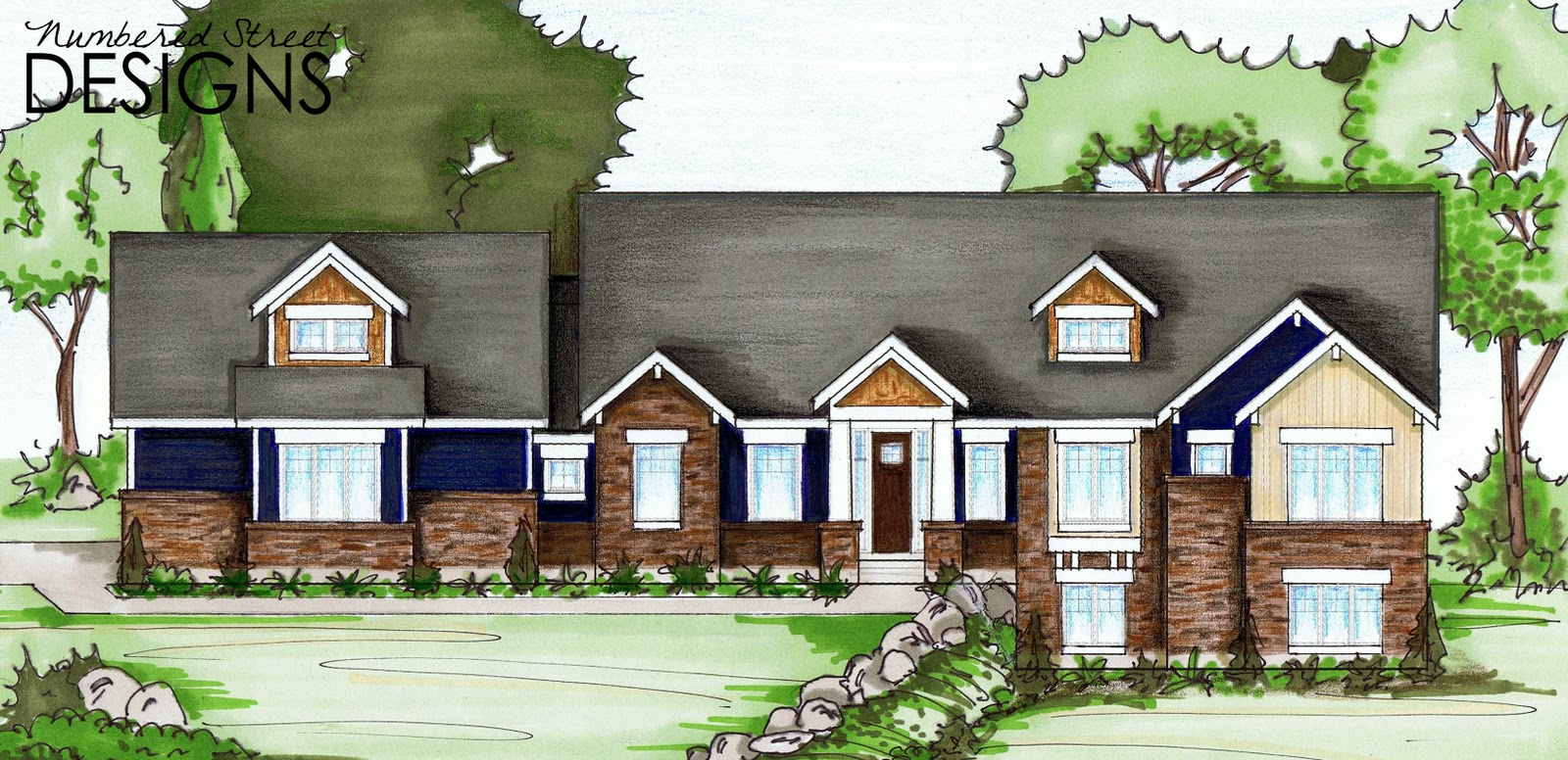 Numbered street designs personal home renderings for Personal home design