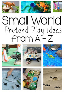 Small world pretend play ideas from A to Z