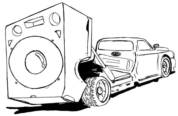Colorir e Pintar: Carros de som