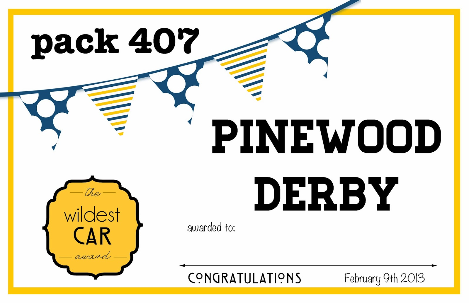 graphic regarding Pinewood Derby Awards Printable identified as Larcie Hen: Pinewood Derby