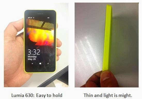 Nokia Lumia 630  Build: Designed for Style and Comfort