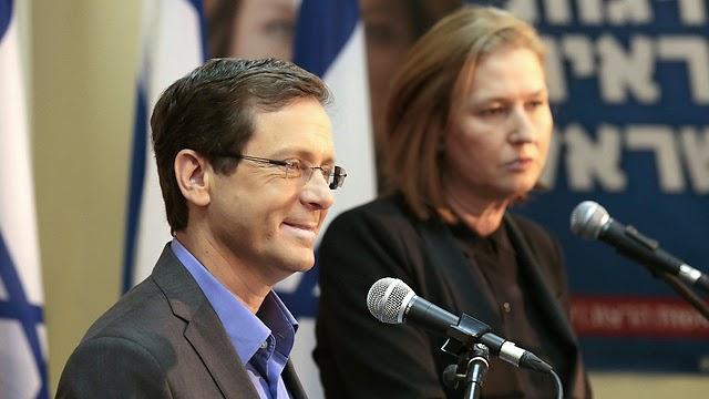 Centro esquerda amplia  vantagem sobre Netanyahu