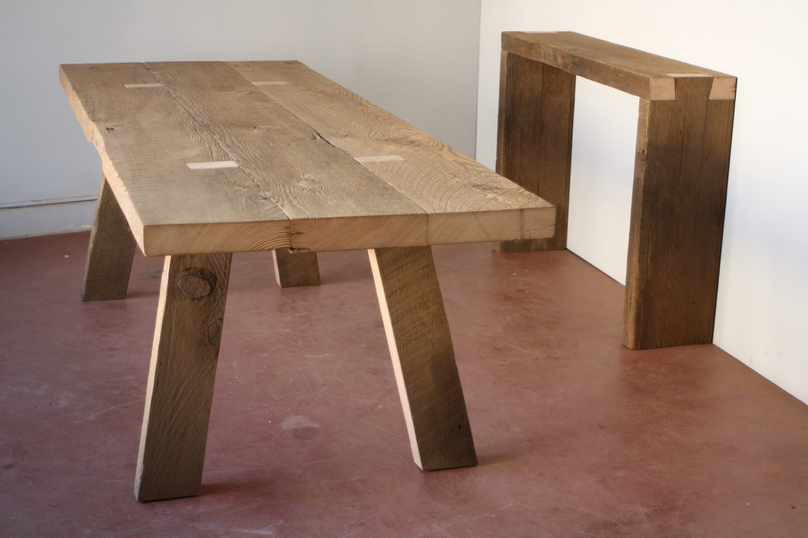 8u0027 Lock U0026 Key Dining Table And Dovetail Console In Barn Wood