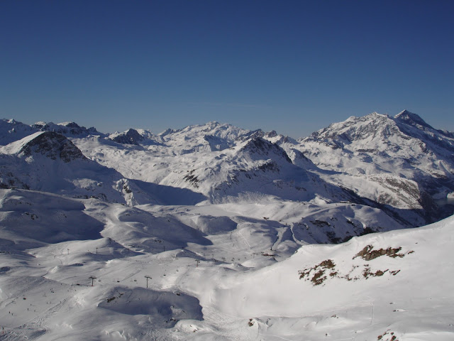 The view of the Espace Killy ski area - Tignes, France