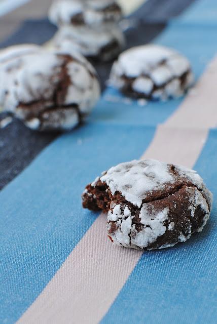 recept, crinkles, choklad, kaka, fika