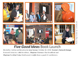 Five Good Ideas book launch Toronto, photo-collage by wobuilt.com, photos by Olga Goubar