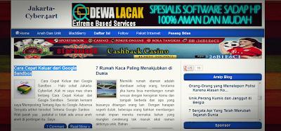 Jakarta-Cyber4art Blog Yang Berisi Berita Aneh Unik Dan Info Terbaru Terupdate
