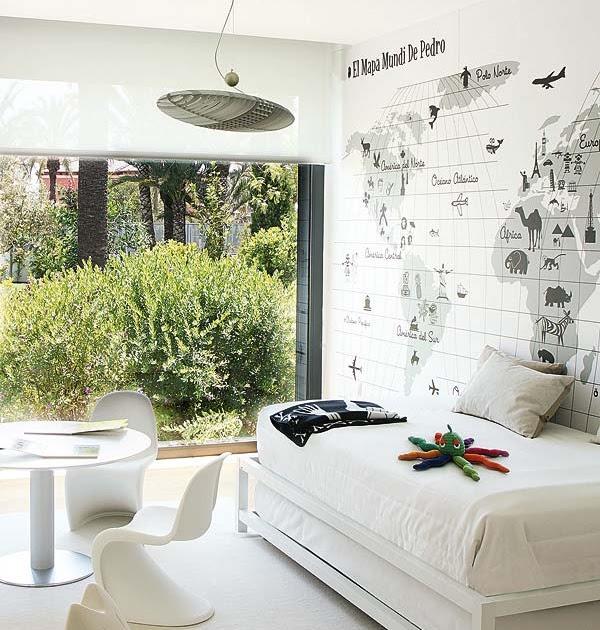 Vidas de mercurio el mapa mundi de pedro - Dormitorio infantil blanco ...