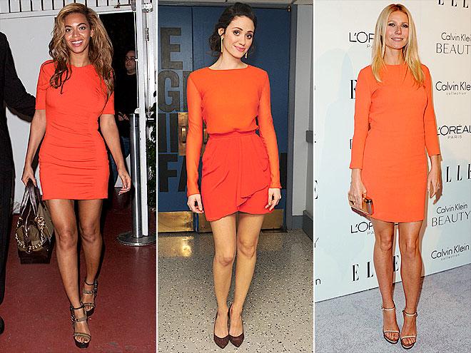 Платье апельсинового цвета