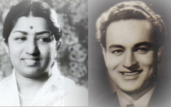Image result for mukesh with lata