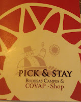 Carta Pick & Stay. Bodegas Campos COVAP Shop