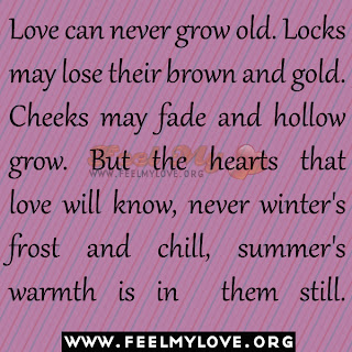 Love can never grow old
