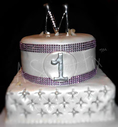 Purple Bling & Quilted Cake