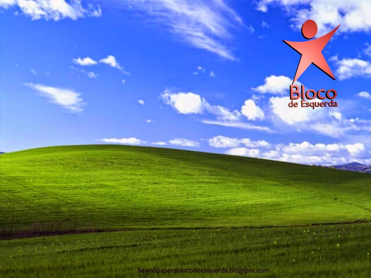 Wallpaper do Partido Bloco de Esquerda emblema em 3D do BE para utilizar como fundo de tela do seu ambiente de trabalho