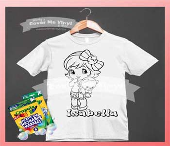 Color Me Girl With Teddy Shirt Kit
