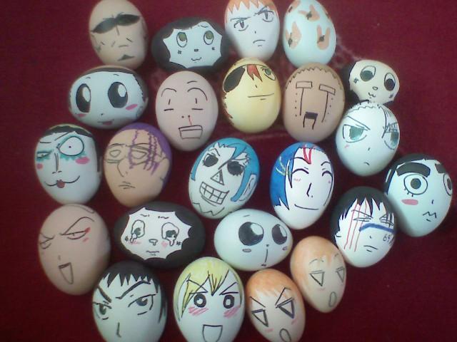 Bleach na skorupkach jajek