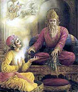 Sanjay and Dhritarashtra