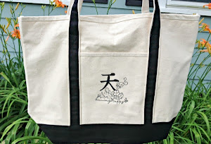 Living Happy Beach Tote Bag